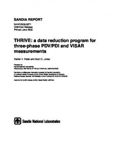 THRIVE - Sandia National Laboratories