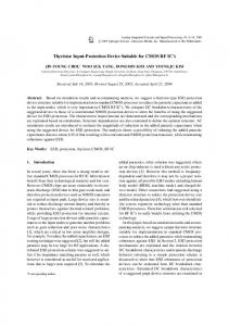 Thyristor Input-Protection Device Suitable for CMOS ... - Springer Link