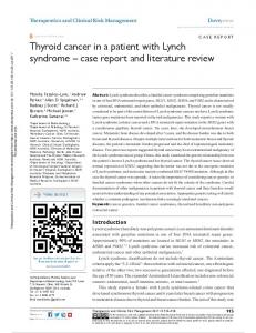 Thyroid cancer in a patient with Lynch syndrome