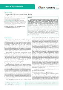 Thyroid Disease and the Skin - Austin Publishing Group