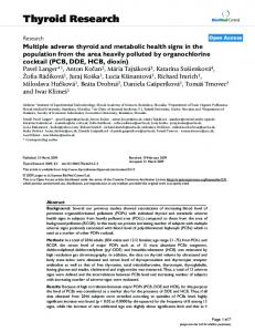 Thyroid Research - BioMedSearch