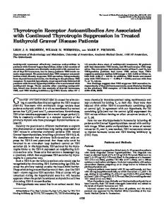Thyrotropin Receptor Autoantibodies Are Associated with Continued ...