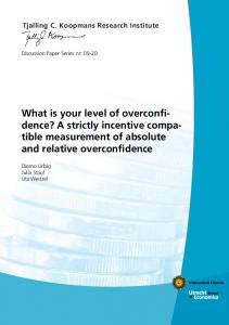 tible measurement of absolute and relative overconfidence