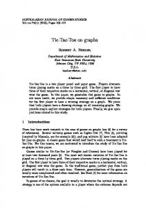 Tic-Tac-Toe on graphs - The Australasian Journal of Combinatorics