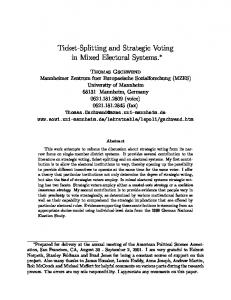 Ticket-Splitting and Strategic Voting in Mixed Electoral ...