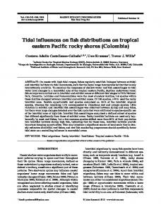 Tidal influences on fish distributions on tropical eastern Pacific rocky ...