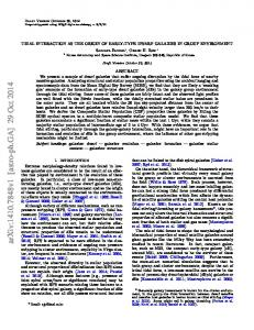 Tidal Interaction as the origin of early-type dwarf galaxies in group ...