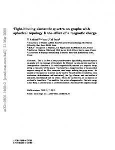 Tight-binding electronic spectra on graphs with spherical topology I