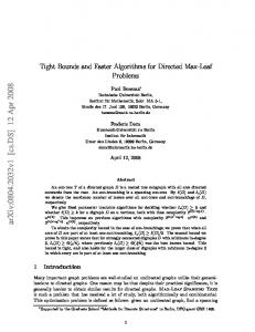 Tight Bounds and Faster Algorithms for Directed Max-Leaf Problems
