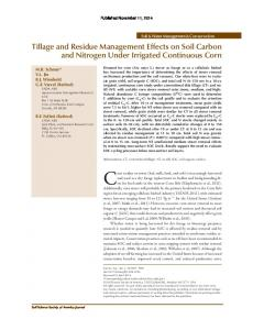 Tillage and Residue Management Effects on Soil ... - PubAg - USDA