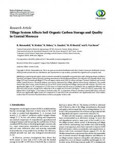 Tillage System Affects Soil Organic Carbon Storage and Quality in ...