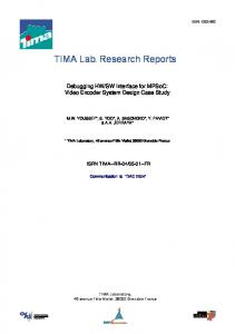 TIMA Lab. Research Reports