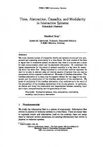 Time, Abstraction, Causality, and Modularity in ... - Semantic Scholar