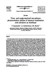 Time- and angle-resolved two-photon photoemission ... - CiteSeerX