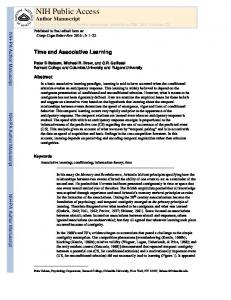 Time and Associative Learning