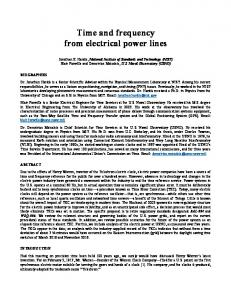 Time and frequency from electrical power lines - Time Service ...