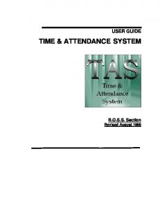 TIME & ATTENDANCE SYSTEM - Core-CT