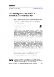 Time-based position estimation in monolithic
