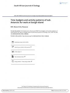 Time budgets and activity patterns of sub- Antarctic ...