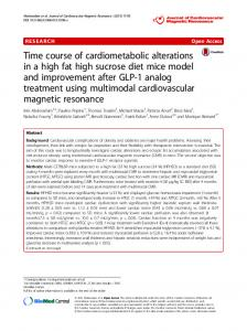 Time course of cardiometabolic alterations in a