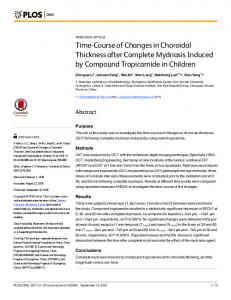 Time-Course of Changes in Choroidal Thickness ... - Semantic Scholar