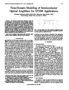 Time-domain modeling of semiconductor optical ... - IEEE Xplore