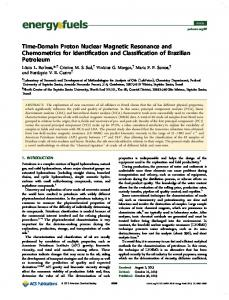 Time-Domain Proton Nuclear Magnetic ... - ACS Publications