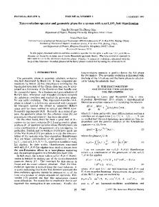Time-evolution operator and geometric phase for ... - APS Link Manager