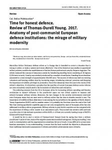 Time for honest defence. Review of Thomas-Durell Young ... - Sciendo