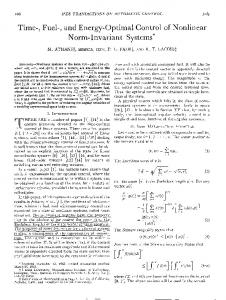 Time-, Fuel-, and Energy-Optimal Control of Nonlinear ... - IEEE Xplore