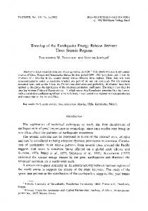 Time-lag of the earthquake energy release between ... - Springer Link