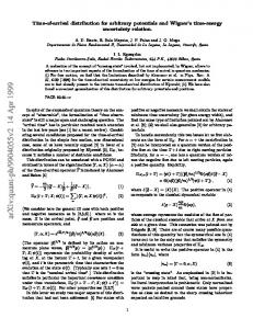 Time-of-arrival distribution for arbitrary potentials and Wigner's time ...