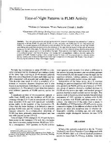 Time-of-Night Patterns in PLMS Activity
