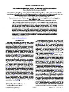 Time-resolved photoemission study of the electronic structure and ...