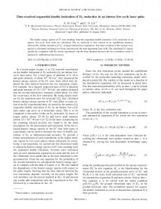 Time-resolved sequential double ionization of D2 ... - KSU Physics