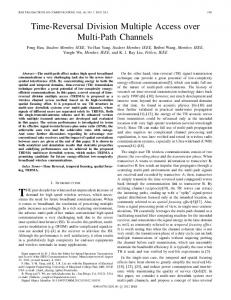 Time-Reversal Division Multiple Access over Multi ... - Semantic Scholar