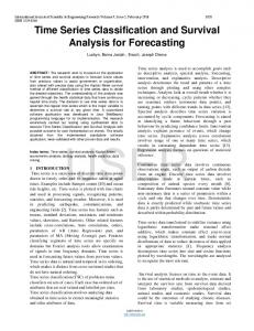 Time Series Classification and Survival Analysis for