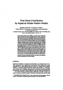 Time Series Classification by Imprecise Hidden Markov Models - Idsia
