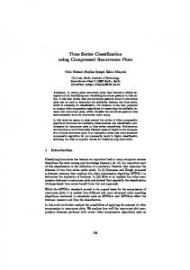 Time Series Classification using Compressed Recurrence ... - DAI-Labor