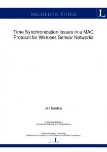 Time Synchronization Issues in a MAC Protocol for Wireless Sensor ...