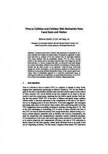 Time to Collision and Collision Risk Estimation from Local ... - CiteSeerX