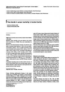 Time trends in cancer mortality in Central Serbia - Springer Link