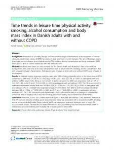 Time trends in leisure time physical activity, smoking, alcohol ... - Core
