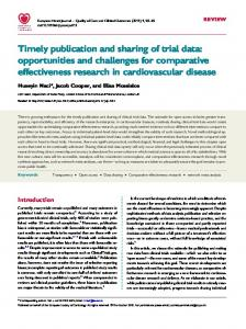 Timely publication and sharing of trial data: opportunities and ...