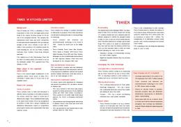 TIMEX WATCHES LIMITED - India Brand Equity Foundation