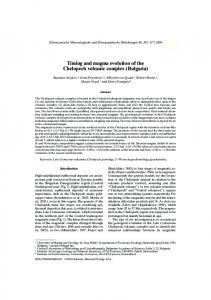 Timing and magma evolution of the Chelopech volcanic complex ...