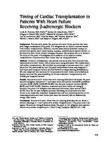 Timing of Cardiac Transplantation in Patients With Heart Failure ...