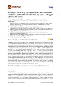 Timing of Secondary Hydrothermal Alteration of the Luobusa ... - MDPI