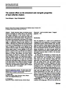 Tin content effect on the structural and energetic ... - Springer Link
