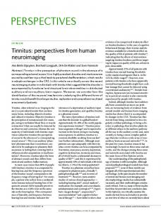 Tinnitus: perspectives from human neuroimaging - Deutsche Tinnitus ...